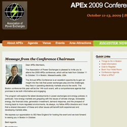 APEx 2009 Conference Launches Website thumnail